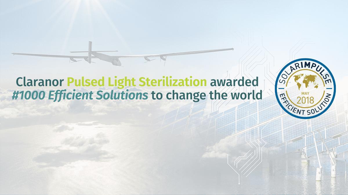 , Solar Impulse fondation labellised Claranor solutions
