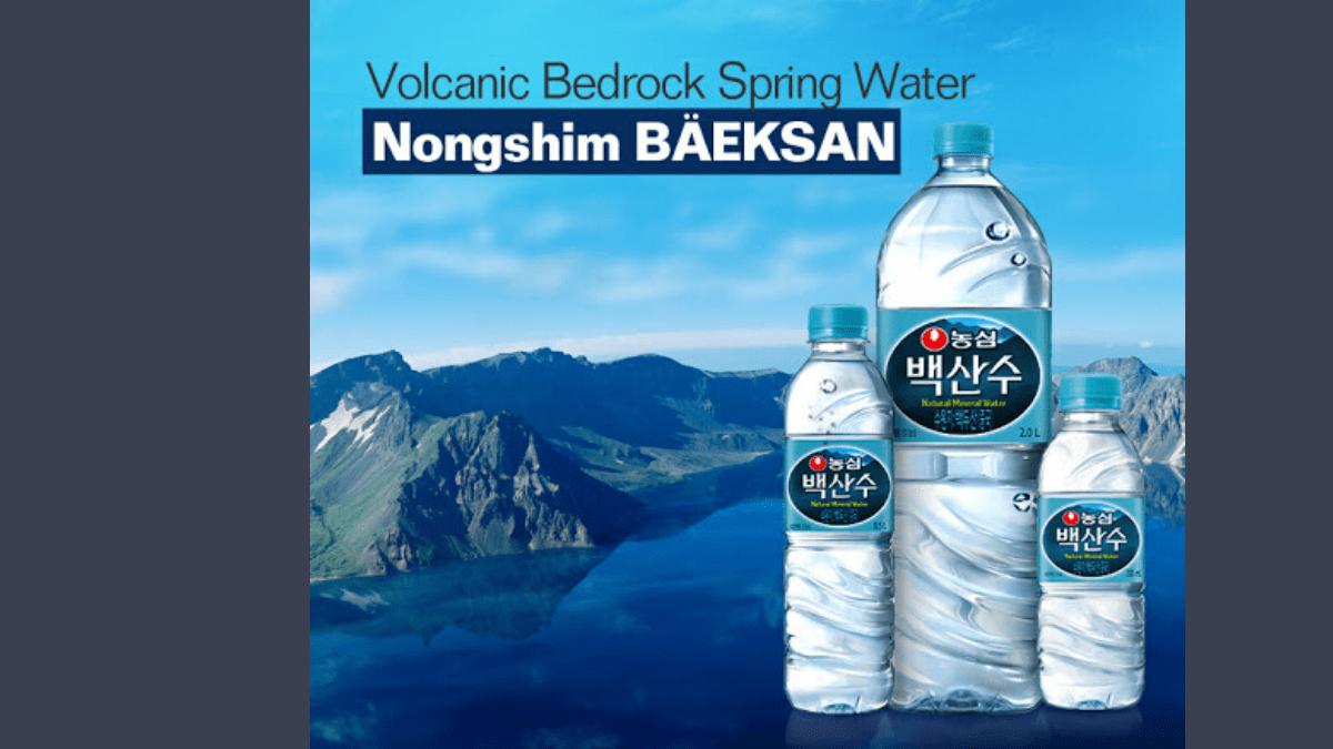 , Bottled water: Yanbian Nongshim
