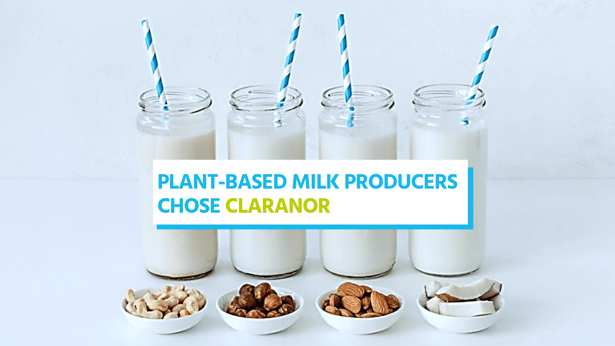 , Claranor Pulsed light chosen by Plant-based milk manufacturers!